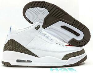 hot sale online 52304 8484d Image is loading Nike-Air-Jordan-3-Retro-Mocha-Mens-White-