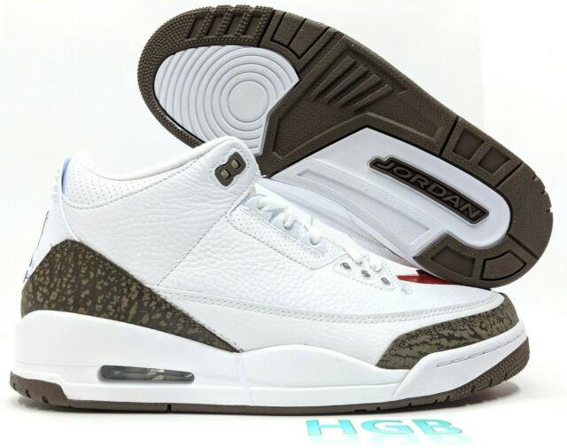0ebda65e3b4 Nike Air Jordan 3 Retro Mocha Mens White Dark Brown Authentic 136064-122 NIB