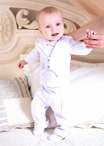 cc77e72b9df5 Christening Outfit Baby Boy Baptism Suit 3PC White + Embroidered ...