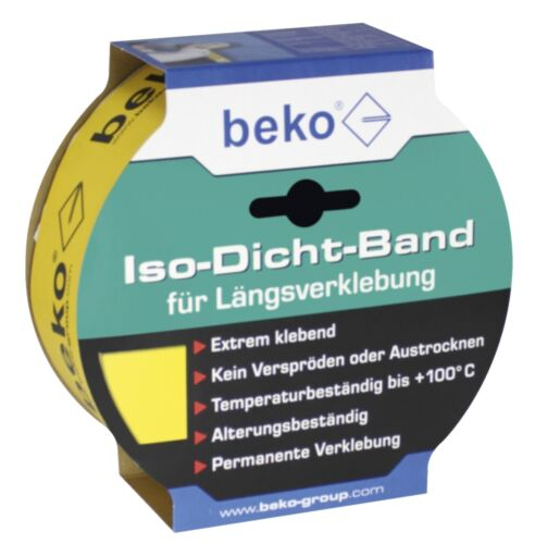 Dampfbremse Längsverklebung 40m ISO DICHT Band gelb f
