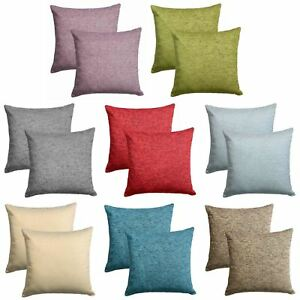 Set-of-2-Chenille-Cushion-Covers-Luxury-Plain-Cushions-Cover-Pairs-18-034-x-18-034