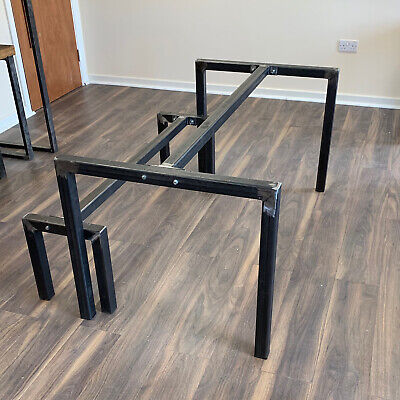 Pleasant U Shaped Table Bench Legs Base Made Steel Centre Bar For Dining Coffee Office Ebay Ibusinesslaw Wood Chair Design Ideas Ibusinesslaworg
