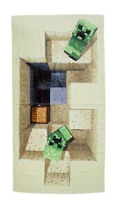 Détails Sur Minecraft Serviette De Plage Deux Cactus Et Tesoro70x140cm Mojang Salle Bain