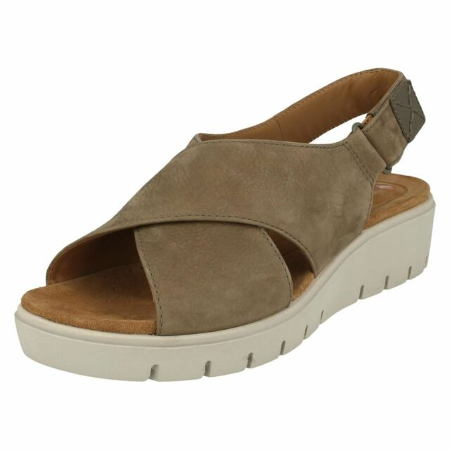9c23c6696aff Ladies Clarks Unstructured Slingback Sandals Un Karely Hail Sage ...