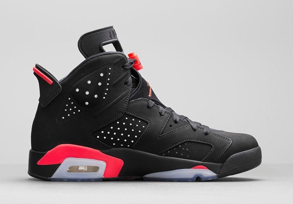 Nike Air Jordan 6 6.5 retro Negro Infrared Talla 6.5 6 1726eb