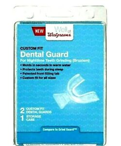 Dental Guard Nighttime Teeth Grinding 2 Front Fitting Tab With Case NEW