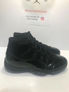 Details about NIKE AIR JORDAN 11 RETRO CAP AND GOWN PROM NIGHT BLACK Size 10 378037 005 DS
