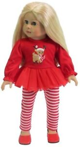 """Rudolph Christmas Book SET for American Girl Dolls 18/"""" Doll Accessories Fits"""