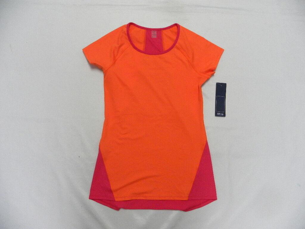 Roxy Women Medium Athletic Tri Me SS Top Pink orange