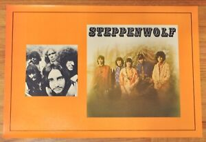 1970-STEPPENWOLF-Vintage-BOOK-COVER-Poster-Self-Titled-LP-Orange-Rexall-DUNHILL