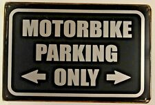 Motorbike Parking Vintage Retro Tin Metal Sign Plaque Home Decor Studio Garage