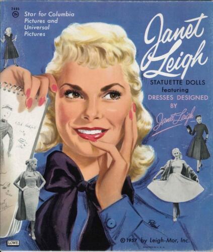 VINTAGE UNCUT 1958 JANET LEIGH PAPER DOLLS ~HD LASER REPRODUCTION~LO PR~HI QU