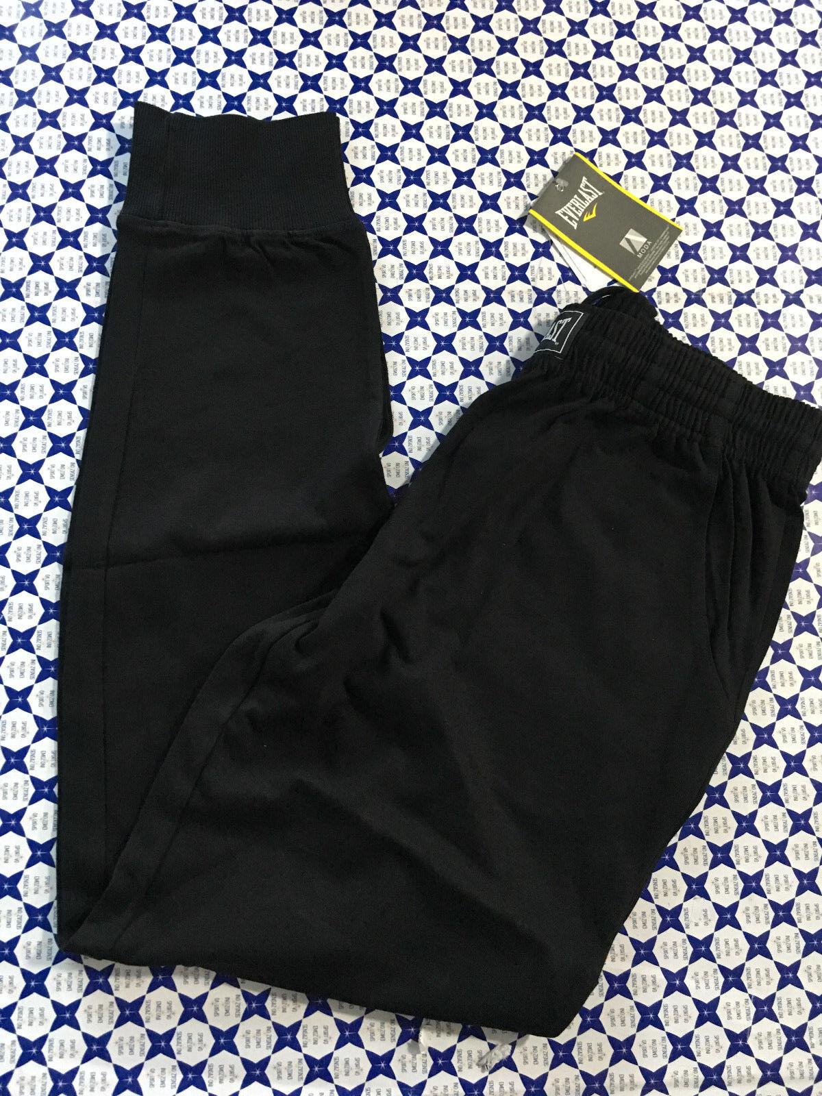 Pantalone Everlast Cotone  Herren - 4 Tasche Polsino Russel - Nero - 23M142J