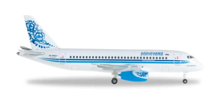 Herpa 527286 Moskovia Airlines Sukoi Superjet 100 1 500 Scale REG RA-89021 RET
