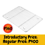 thumbnail 1 - Baking Cooling Rack- Stainless Steel-Cool Cookies Cakes Breads-Oven Safe, 17x11