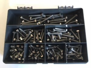 Stainless-Steel-Hex-Head-M6-Bolts-Setscrews-Assorted-Kit-Grade-A2-304-120-Pcs
