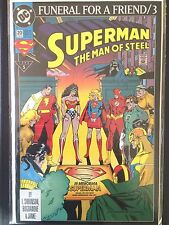 "Superman Man of  Steel  #20     ""Funeral for a Friend""    (1993)   Batman  VF/NM"