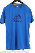 adidas Herren Funktionsshirt T Shirt atmungsaktiv blau Größe L NEU