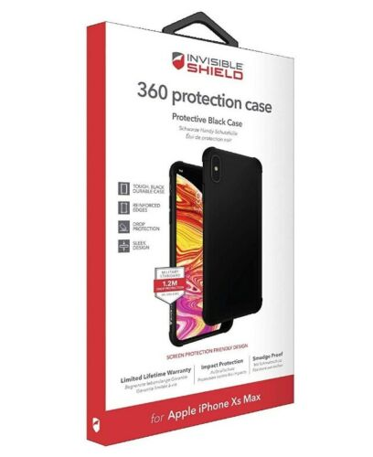 Zagg InvisibleShield 360 protección Estuche para iPhone XS MAX Matt Negro