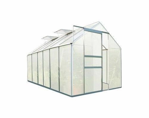ZELSIUS Fundament für Gewächshaus 380 x 190 cm Glashaus Garten Treibhaus