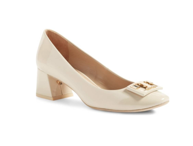 417b9e00f Frequently bought together. Tory Burch Gigi 32944 Logo Patent 50mm Pump ...