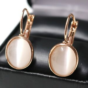 Oval-White-Moonstone-Earring-14K-Rose-Gold-Plated-Women-Birthday-Wedding-Jewelry