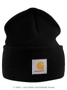 Carhartt-ACRYLIC-WATCH-HAT-Muetze-schwarz-black-Strickmuetze-Cap-Beanie-A18