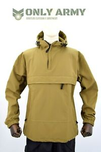 Tactical-Softshell-Anorak-Smock-Jacket-Windproof-Water-Resistant-Coyote-Tan
