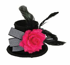 Harlequin Mini Cappello Con Rose Halloween Cappello Lady