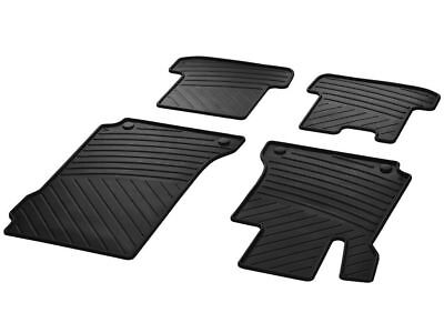 New Genuine Porsche 997 911 Rubber Floor Mats Black Set of Two 98704480094 OEM