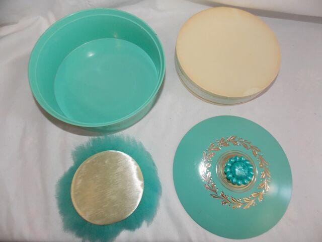 Cort Gay Romance Dream Dust Dusting Powder Talc 6 oz Sealed Turquoise Vanity Vtg