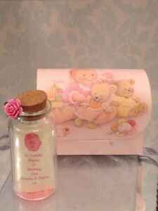 PERSONALISED FIRST 1ST BIRTHDAY MESSAGE IN A BOTTLE GIFT CARD PRESENT KEEPSAKE