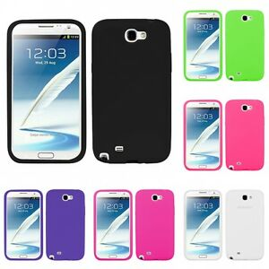 For-Samsung-Galaxy-Note-2-N7100-Silicone-Skin-Rubber-Soft-Case-Phone-Cover