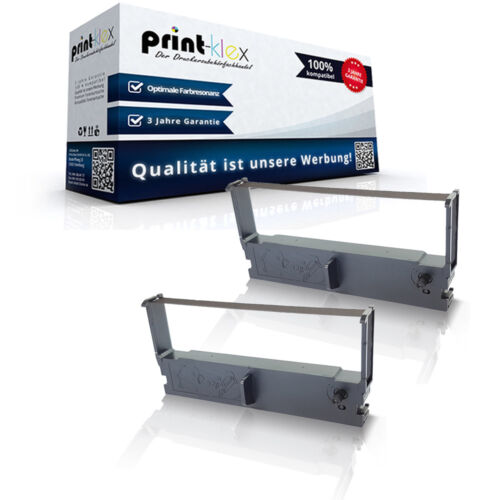 2x Recycelte Farbbänder für Epson ERC 32 Nylonband TTR Einheit-Drucker Pro Serie