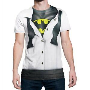 select for best best price wholesale dealer Details about Batman Tuxedo Costume Reveal Sublimated T-Shirt White
