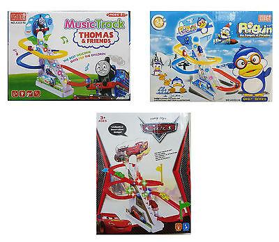 Disney Plane Minion Cars Track escalier Slide Set musique jouets Play Game Kids Sound