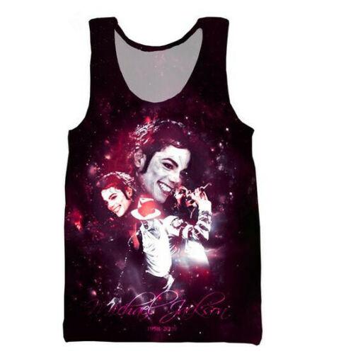 Newest Men//Women/'s 3D Print King of Pop Michael Jackson Vest Casual Tank Top