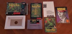 Secret-of-Mana-Super-Nintendo-SNES-RPG-Game-Map-Box-Manual-Complete-CIB-Lot