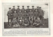 1915 WWI PRINT ~ N.C.O'S OF THE 80th BRIGADE ROYAL FIELD ARTILLERY NAMED