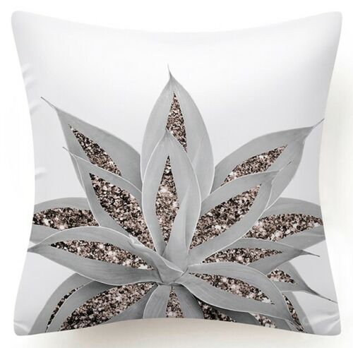 """17x17/"""" Golden Rose Pink Throw PILLOW COVER Decorative White 2-Sided Cushion Case"""