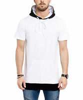 Phoenix Hooded Side Zip Shirt white black Tee Kapuze Menswear Herren Men Pulli