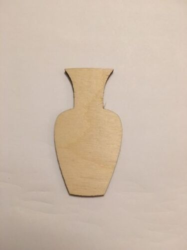 Unfinished Laser Cut Wood A011 Vase Crafting Supplies Planter