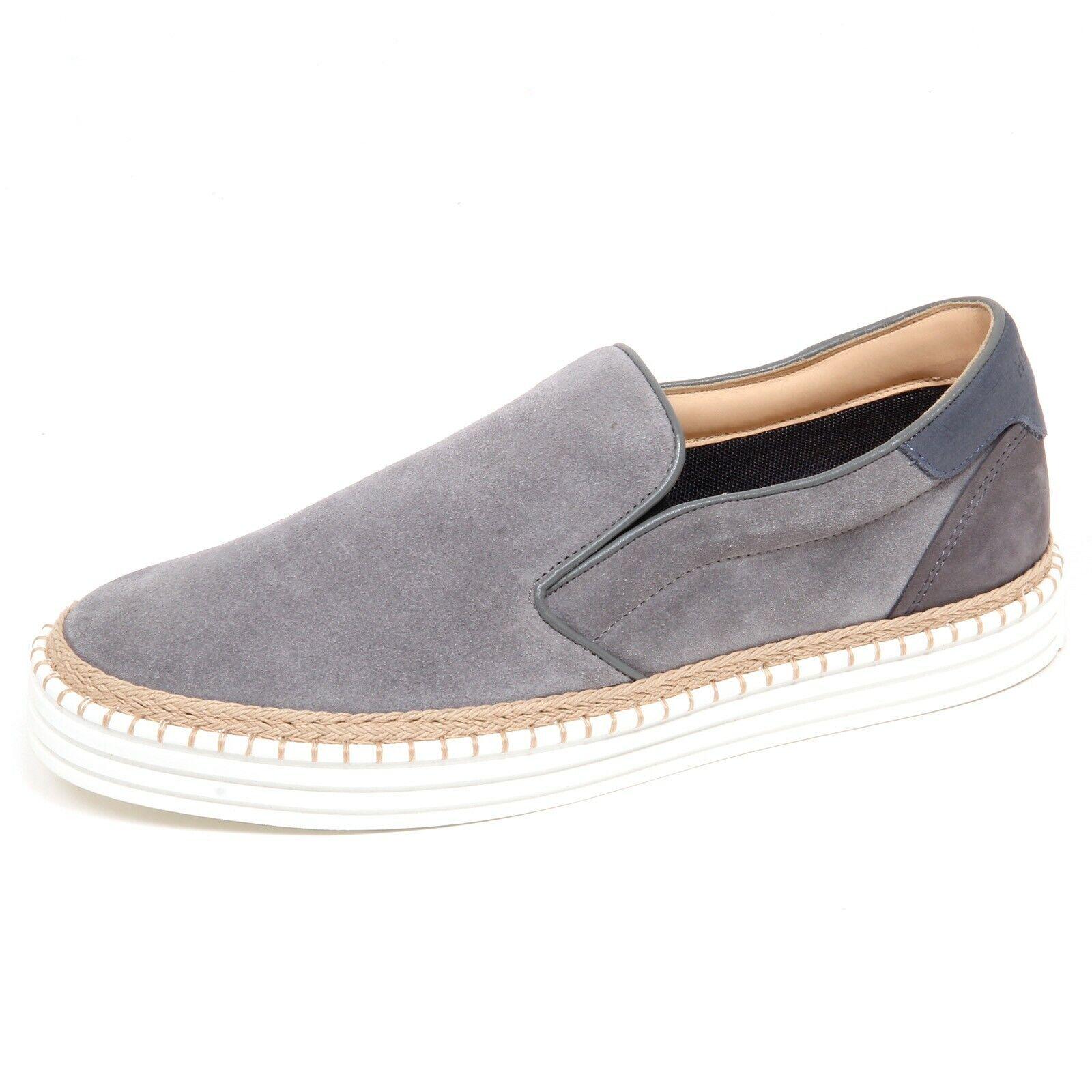 F6114 scarpe da ginnastica uomo grigio HOGAN R260 scarpe suede slip on scarpe man