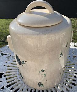 vintage large McCoy ceramic pottery  large cookie jar with lid mid century