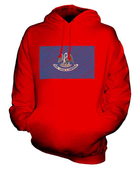 BUNDESSTAAT LOUISIANA KRITZELTE FLAGGE FLAGGE FLAGGE UNISEX KAPUZENPULLOVER HERREN DAMEN  | Verkauf  | Grüne, neue Technologie  | Online Kaufen  945586