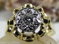 Diamant Damen Ring 585er Gold bicolor Brillant ca. 0,20 ct. VS2/H mit Zertifikat