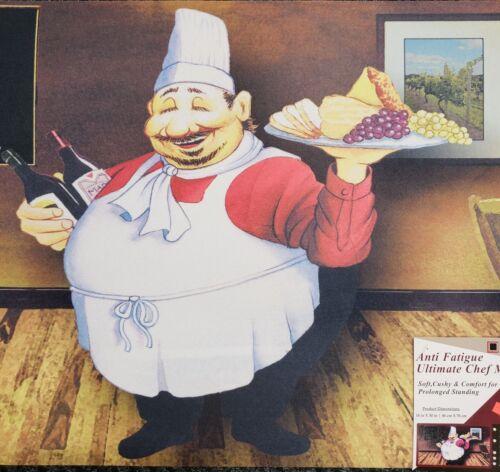 "ANTI-FATIGUE NON SLIP FOAM FLOOR MAT FAT CHEF WITH TRAY HS 18/""x30/"""