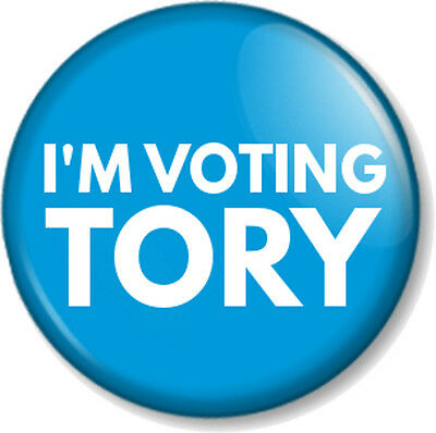 I/'m Voting Tory General Election Conservative Party 25mm Button Badge