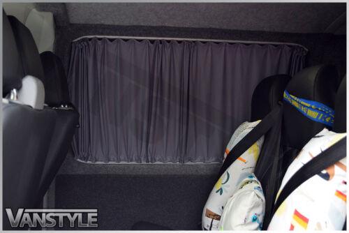 VW T5 Transporter 03-15 GREY Tailored Curtain OS Mid Window Non Sliding