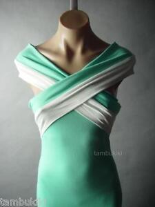 Sale-Light-Green-White-Criss-Cross-Strap-Party-Gown-Long-Maxi-30-mv-Dress-S-M-L